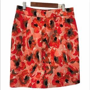 Ann Taylor Petite floral Skirt Size 4P
